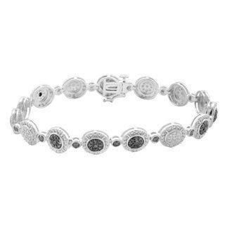 Divina Sterling Silver 1/4ct. Black Diamond Fashion Bracelet