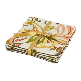 Findlay Apricot Topstitched Coasters (Set of 6)