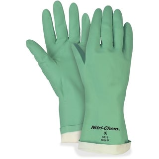 MCR Safety Nitri-Chem Flock Lined Nitrile Gloves