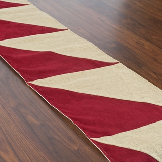Crimson Triangle Pieced Runner (1' x 5'6)