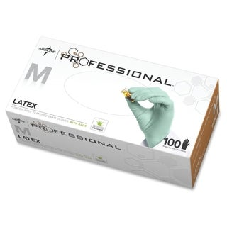 Medline Professional Latex Exam Gloves Medium Size