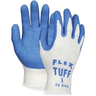 MCR Safety FlexTuff Dipped Latex Gloves Large Size