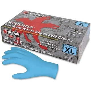 MCR Safety Powdered Nitrile Puncture Rest. Gloves XLarge Size