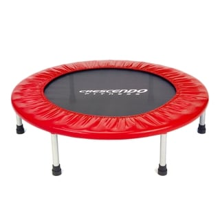 "Crescendo Fitness 32"" Mini Jump Trampoline - Red"