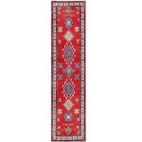 Herat Oriental Afghan Hand-knotted Tribal Kazak Wool Runner (2'7 x 10'8)