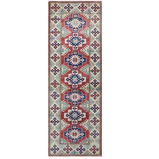 Herat Oriental Afghan Hand-knotted Tribal Kazak Wool Rug (2'1 x 5'11)