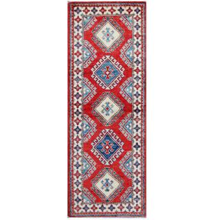 Herat Oriental Afghan Hand-knotted Tribal Kazak Wool Rug (2'11 x 5'9)