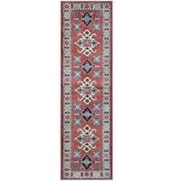 Handmade Herat Oriental Afghan Tribal Kazak Wool Runner (Afghanistan) - 2'9 x 9'6