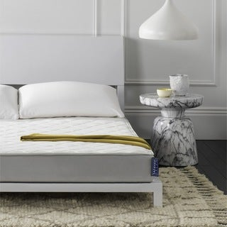 Safavieh Aura 6-inch Spring King-size Mattress Bed-in-a-Box - WHITE