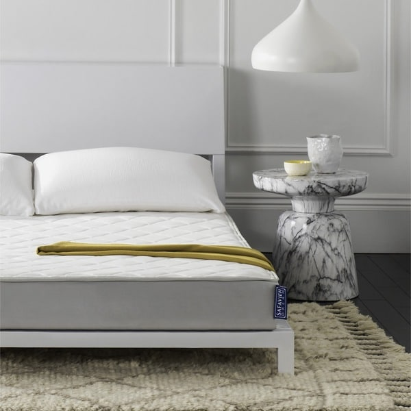 shop safavieh aura 6 inch spring twin size mattress bed in a box on sale free shipping today. Black Bedroom Furniture Sets. Home Design Ideas