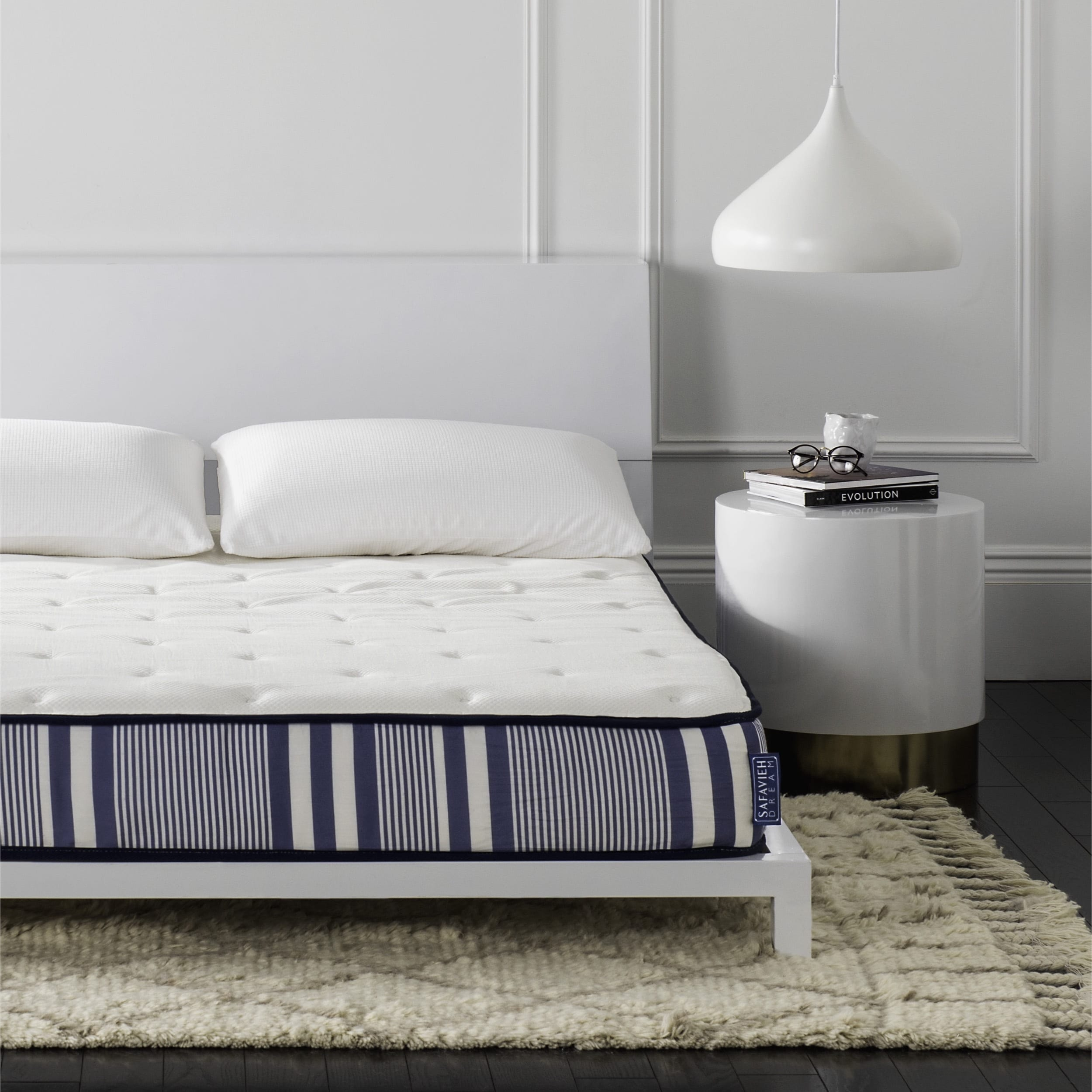 Safavieh Bliss 8-inch Spring Full-size Mattress Bed-in-a-...