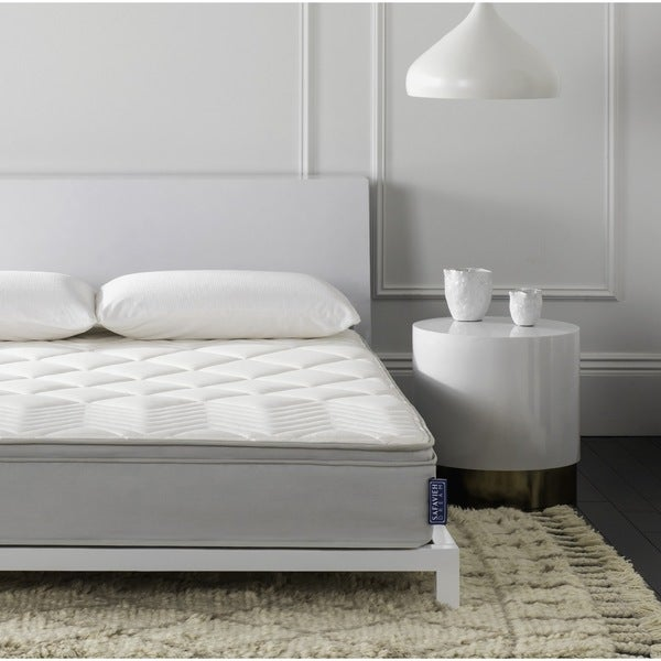 Safavieh Nirvana 10 Inch Euro Pillow Top Spring King Size Mattress Bed In A Box Free Shipping