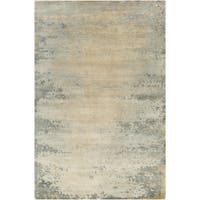 Hand-Knotted Shiloh Abstract Indoor Area Rug (9' x 13') - 9' x 13'