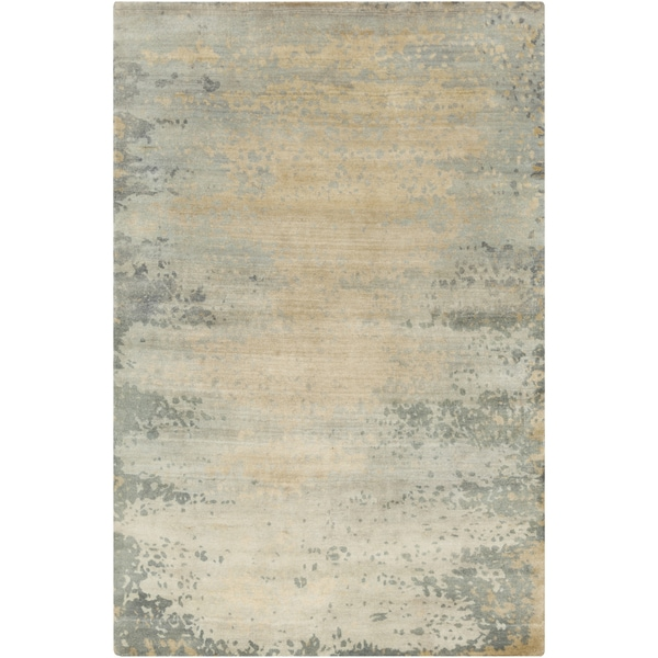 Hand-Knotted Shiloh Abstract Indoor Area Rug (2' x 3') - 2' x 3'