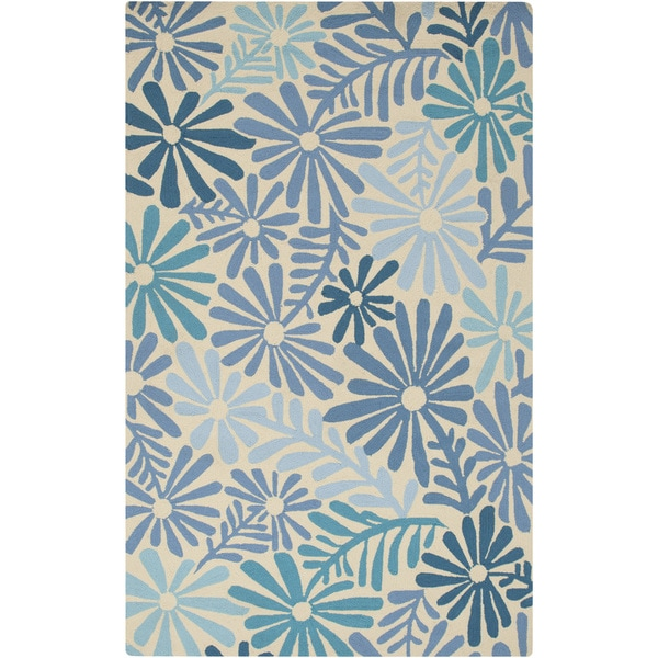 Hand-hooked Lana Floral Area Rug - 8' x 10'6""