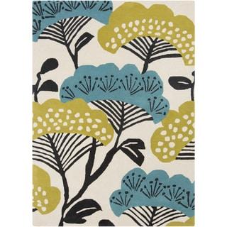 Sanderson :Hand-Tufted Floral Wool Rug (8' x 11')