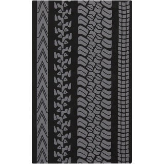 Hand-Hooked Otis Stripe Polypropylene Rug (9' x 12')