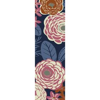 Hand-hooked Lola Floral Polypropylene