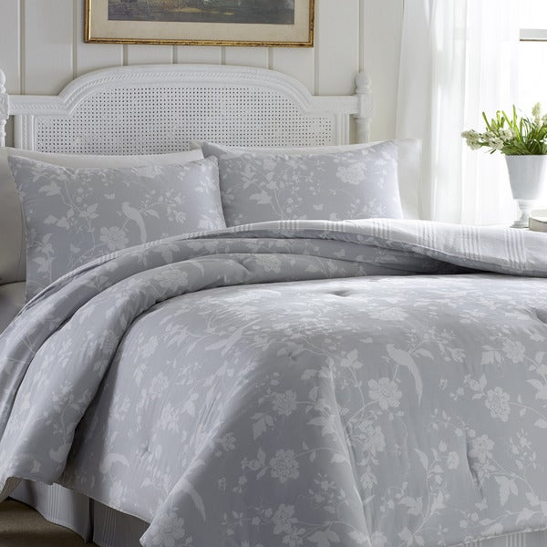 laura ashley garden paradise cotton 4 piece comforter set. Black Bedroom Furniture Sets. Home Design Ideas