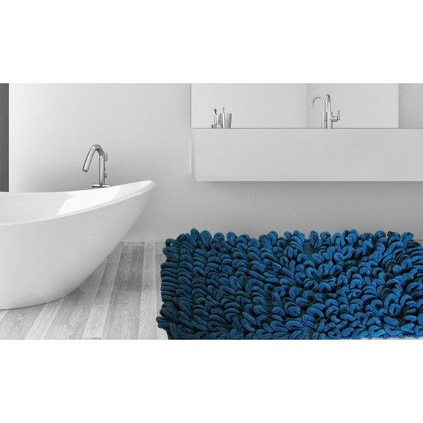 Micro Chenille Thick And Long Loop Piles 21 Inch X 34 Inch Bath Rug