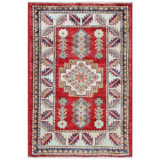Herat Oriental Afghan Hand-knotted Tribal Super Kazak Wool Rug (2'1 x 3'1)