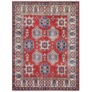 Herat Oriental Afghan Hand-knotted Tribal Kazak Wool Rug (5'7 x 7'5)