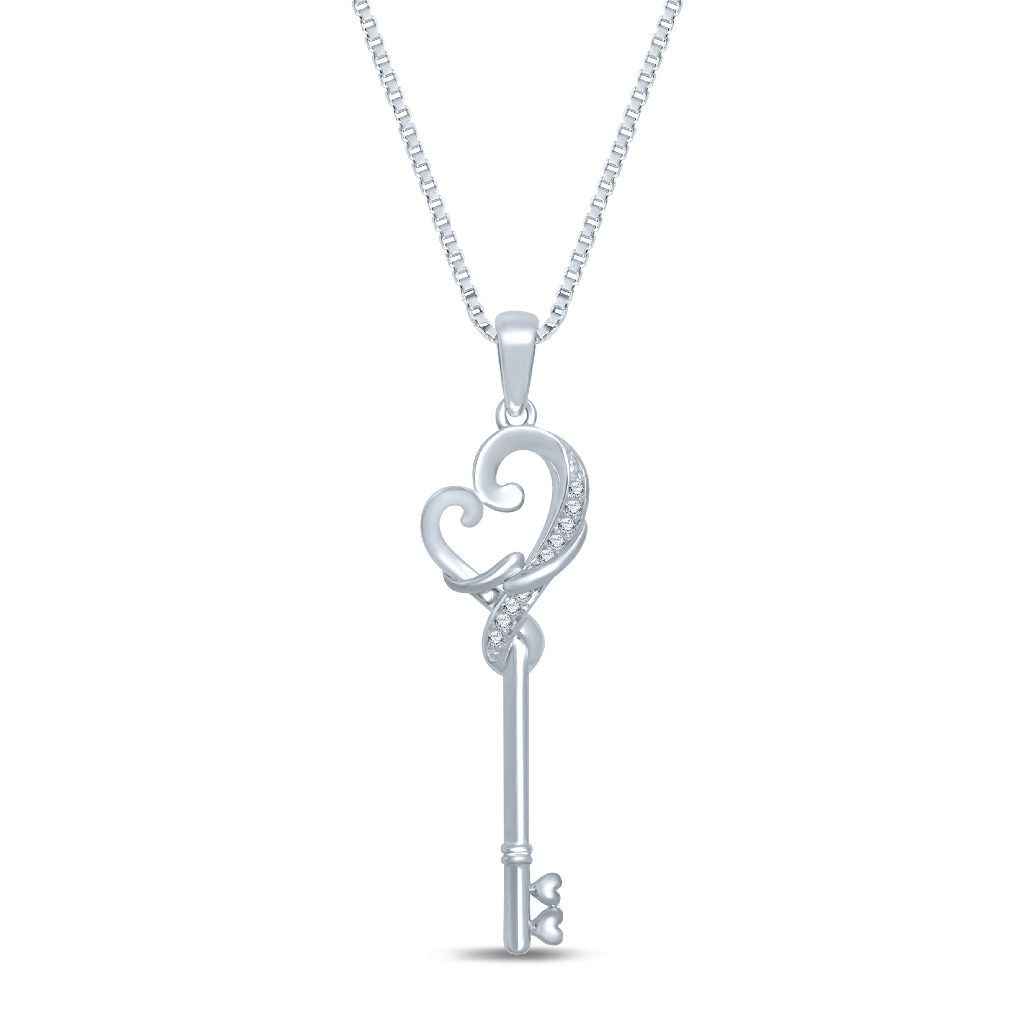Sterling Silver /& Gold-plated The Arms of Love 18in Heart Necklace