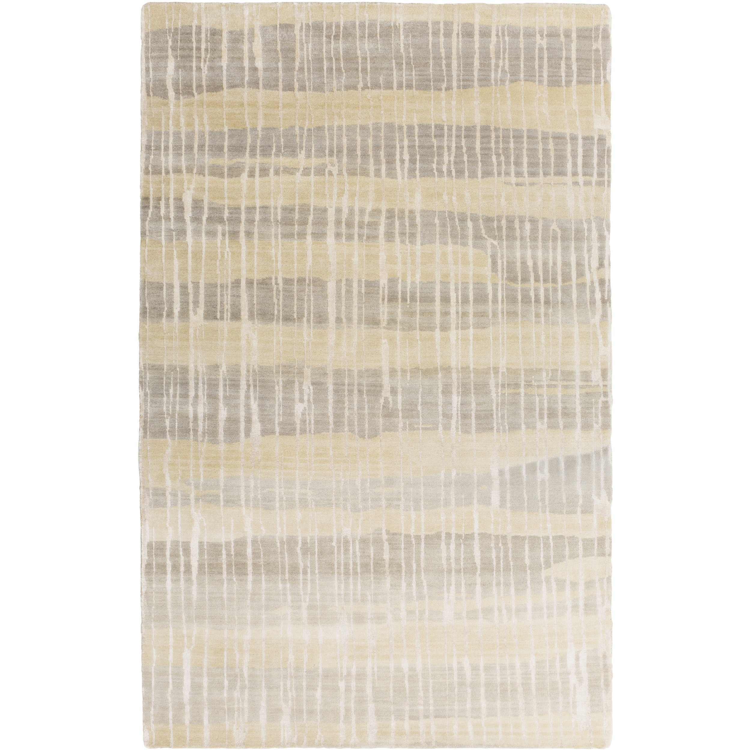 SURYA Hand-Knotted Wilkes Abstract Indoor Rug (9' x 13') ...