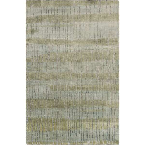 Hand-Knotted Wilkes Abstract Indoor Area Rug