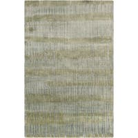 Hand-Knotted Wilkes Abstract Indoor Area Rug - 9' x 13'