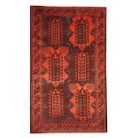 Handmade Herat Oriental Afghan Tribal Balouchi Wool Rug  - 2'10 x 4'8 (Afghanistan)