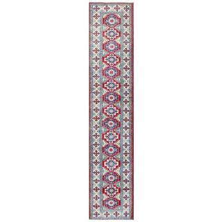 Herat Oriental Afghan Hand-knotted Tribal Kazak Wool Runner - 2'7 x 13'