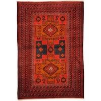 Herat Oriental Afghan Hand-knotted Tribal Balouchi Wool Rug - 2'10 x 4'3