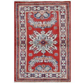 Herat Oriental Afghan Hand-knotted Tribal Super Kazak Wool Rug (2'8 x 3'10)