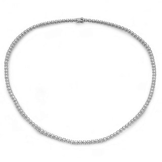 14k White Gold 5ct TDW Diamond Rivieria Necklace
