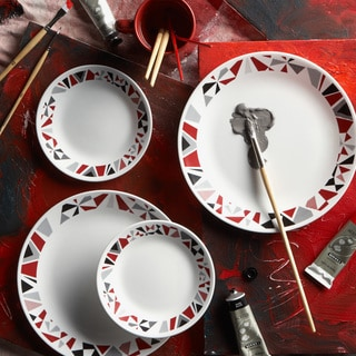 Corelle Livingware 16-piece Set Mosaic Red