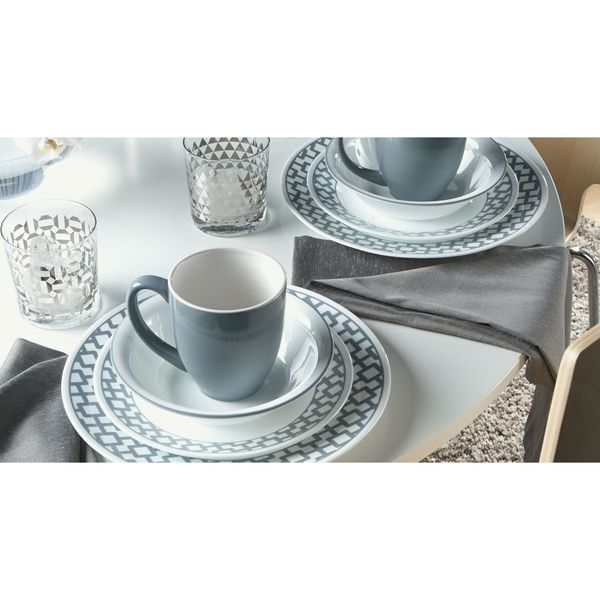 Corelle Impressions 16-piece Set Urban Grid  sc 1 st  Overstock & Shop Corelle Impressions 16-piece Set Urban Grid - Free Shipping ...