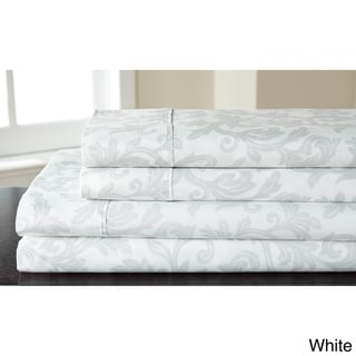 Home Styles Cotton Rich Damask Sheet Set