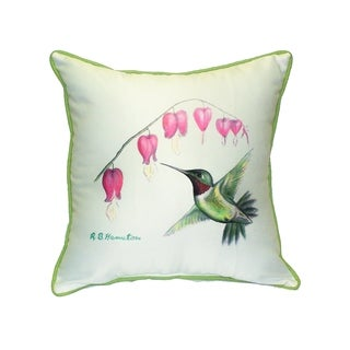 Hummingbird Outdoor/Indoor Throw Pillow