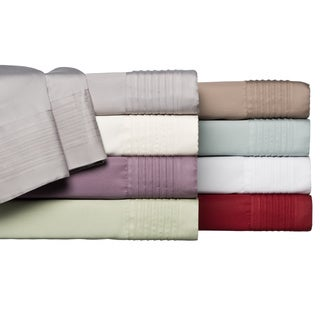 Lancaster Pleated Hem Cotton Rich 6-piece 1000 Thread Count Blend Sheet Set