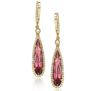 Suzy Levian Gold over Sterling Silver Cubic Zirconia Dangle Earrings