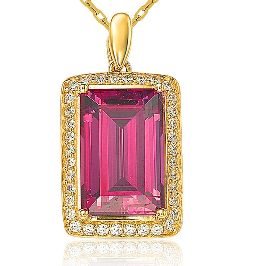 Suzy Levian Gold Over Sterling Silver Cubic Zirconia Colo...