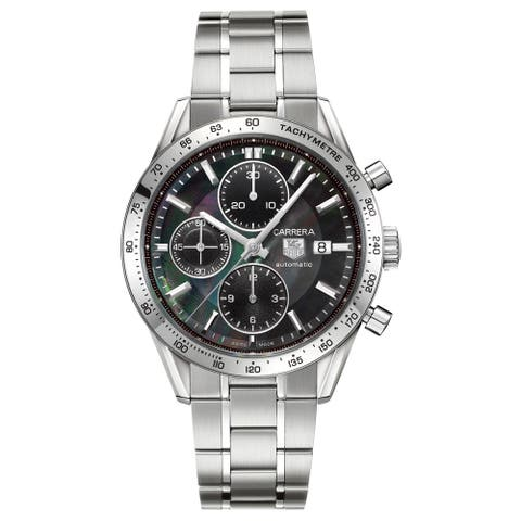 Tag Heuer Men's CV201P.BA0794 'Carrera Calibre 16' Stainless Steel Watch