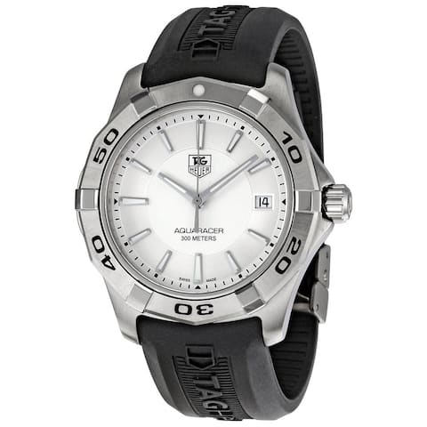 Tag Heuer Men's WAP1111.FT6029 'Aquaracer' Stainless Steel and Rubber Watch