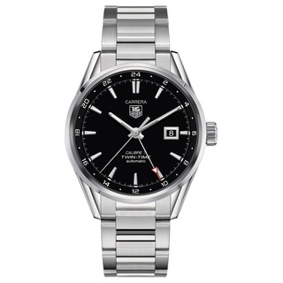 Tag Heuer Men's WAR2010.BA0723 'Carrera Calibre 7 Twin Time' Stainless Steel Watch