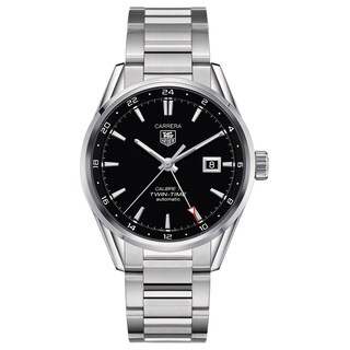 Tag Heuer Men's 'Carrera Calibre 7 Twin Time' Stainless Steel Watch
