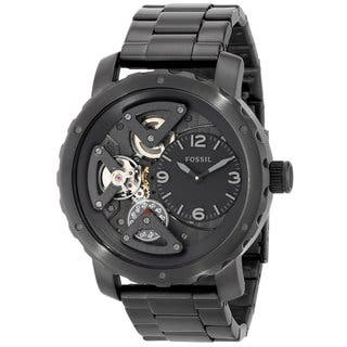 Fossil Men's ME1133 'Nate' Black Stainless Steel Watch|https://ak1.ostkcdn.com/images/products/9977459/P17129268.jpg?impolicy=medium