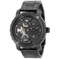 Fossil Men's ME1133 'Nate' Black Stainless Steel Watch