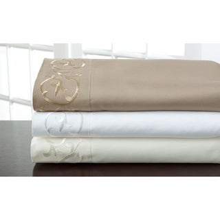 Hotel Scroll Microfiber Sheet Set