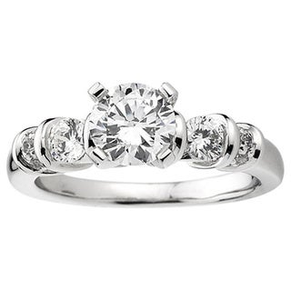 Elora 14k White Gold 3/4ct TDW Round Diamond Semi-mount Bridal Set (H-I, I1-I2)